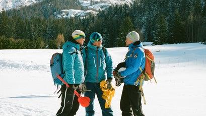 ENSA instructors during the ski test