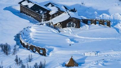 Heli-Ski Lodge Deep in the Arctic Circle