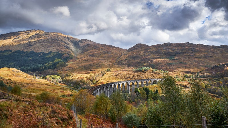 The Glenfinnan Viaduct, in Inverness-shire, Scotland