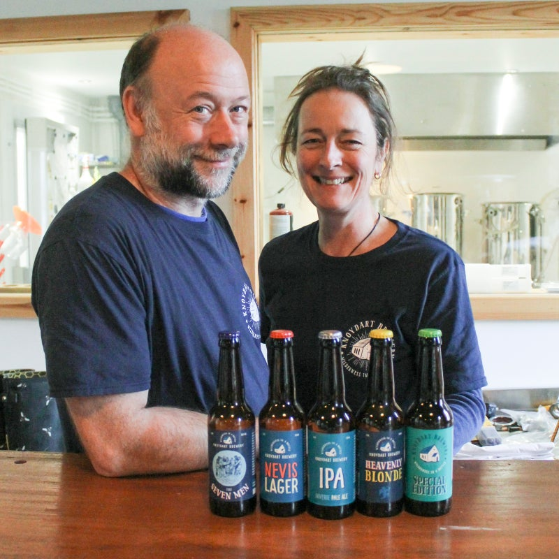 Matt and Sam Humphrey, co-owners of Knoydart Brewery