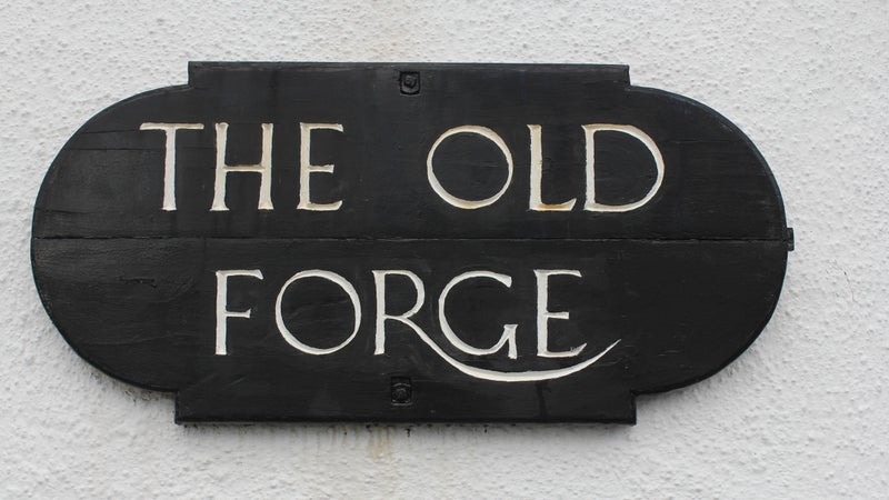 The sign outside the Old Forge