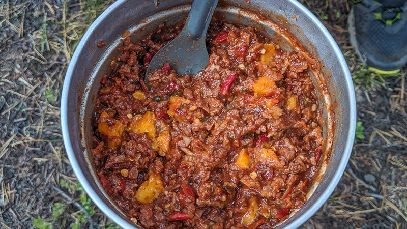 On its maiden trip, this backcountry chili recipe got excellent reactions.