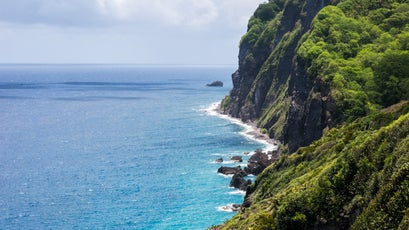 A view of the Dominica coastline from the Waitukubuli National Trail