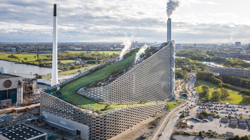 Rising to 279 feet, CopenHill is one of Denmark's tallest structures.