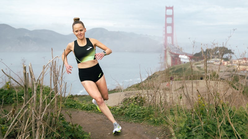 Katie Casto Hynes trains in the San Francisco hills.