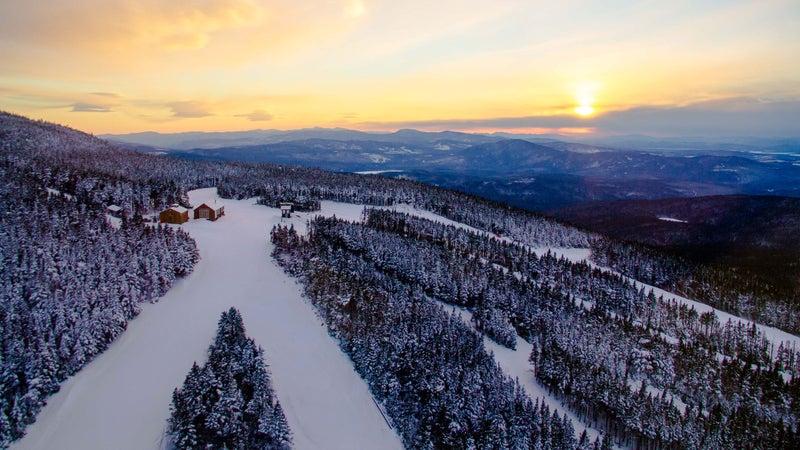 Sunset over Saddleback Mountain