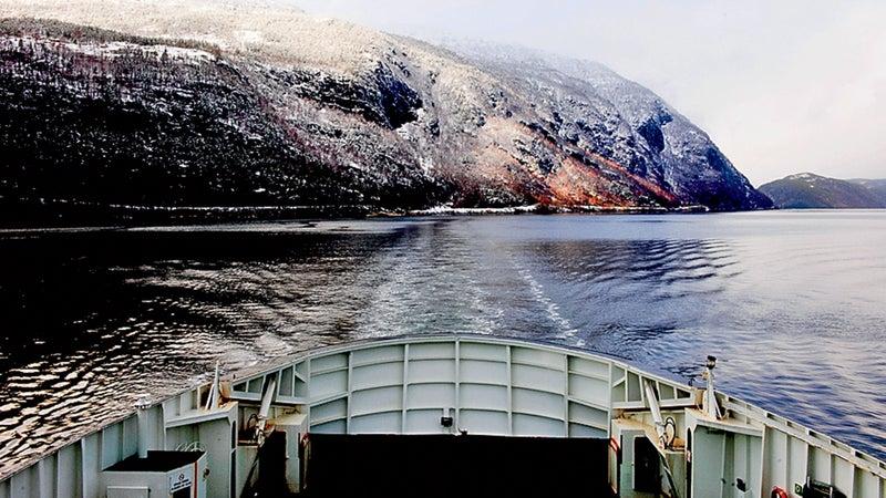 A ferry near the Hardangervidda