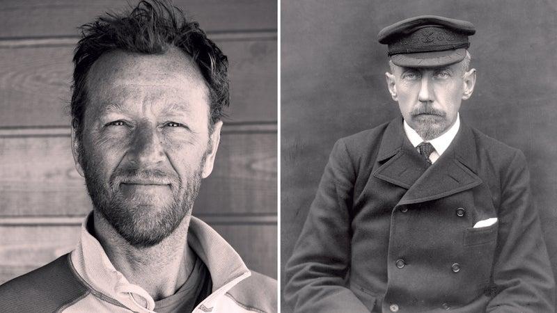 From left: Steve Jenkins; Amundsen in 1908.