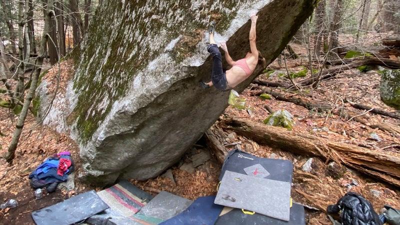 Beth Climbing