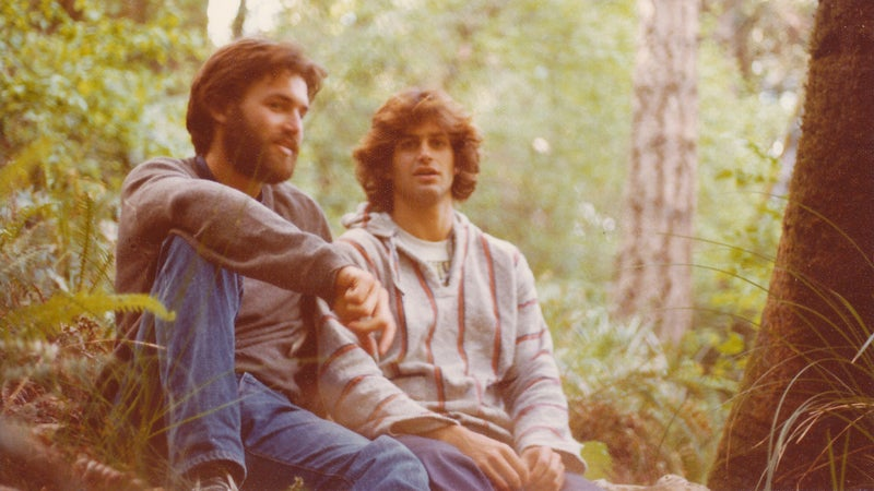 Don (left) and Steve hiking near Point Reyes, California, in 1977