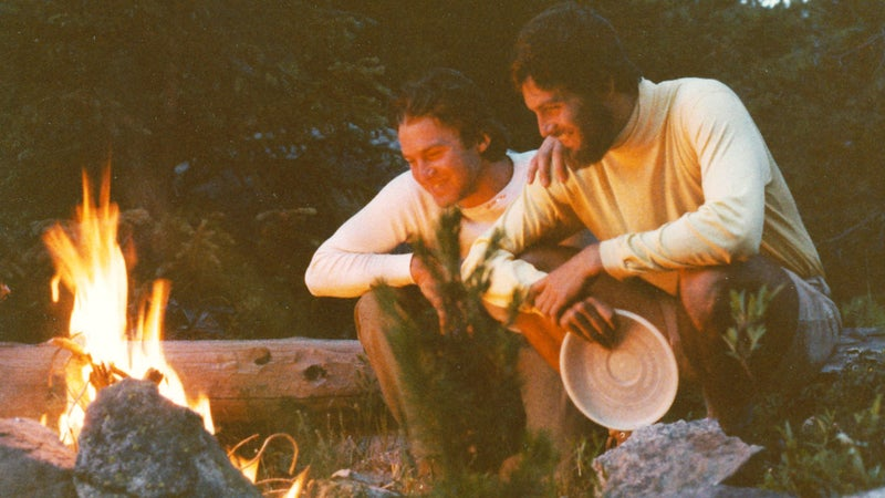 Don (left) and Steve on a backpacking trip in Maroon Bells, Colorado, in 1980