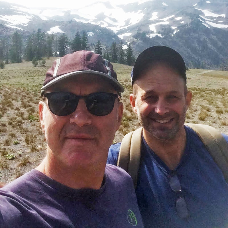 Don (left) and Steve during their hiking trip in Oregon's Deschutes National Forest