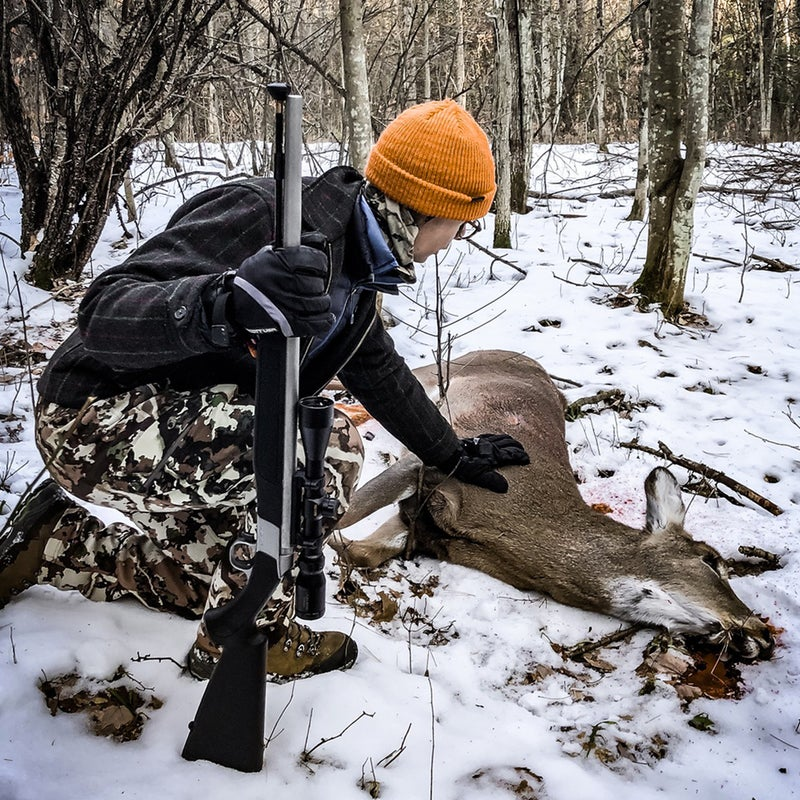 The author's first deer kill