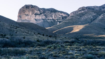 Guadalupe Mountains at sunset