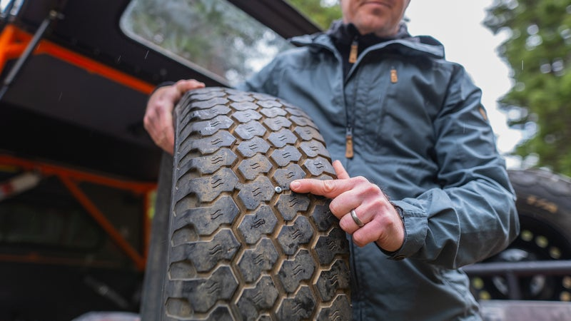 Right in the middle of your tread is a good place to find a foreign object.