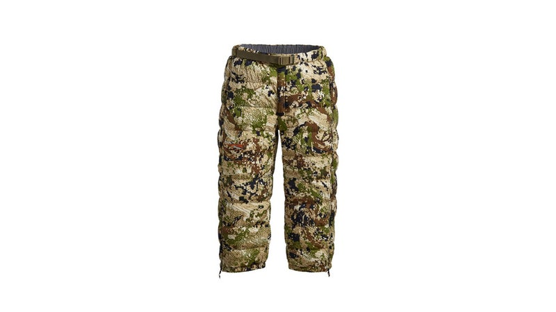 With its three-quarter length, the Kelvin Lite Down pant is designed to be worn over your shell pants and gaiters while glassing and will remain warm in the most challenging conditions.