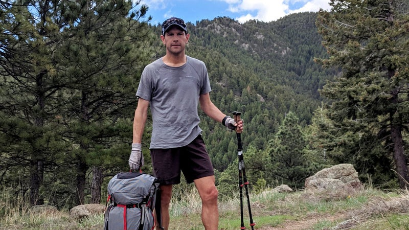 A training hike in the foothills of Boulder, Colorado, carrying the Osprey Aether Pro 70 pack loaded with with 50 pounds of bricks