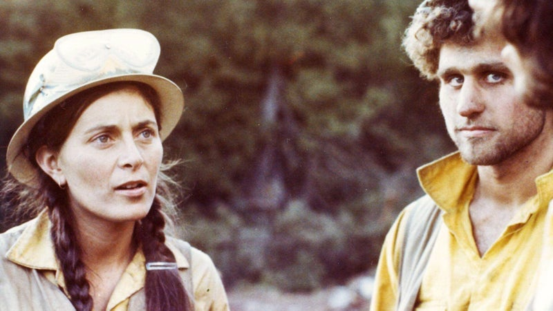 Kimberly Brandel, shown here in Minnesota in 1976 during her first season with the Zigzag Hotshots, was the first woman to be hired to Zigzag and one of the first women to work on a hotshot crew in the Pacific Northwest.