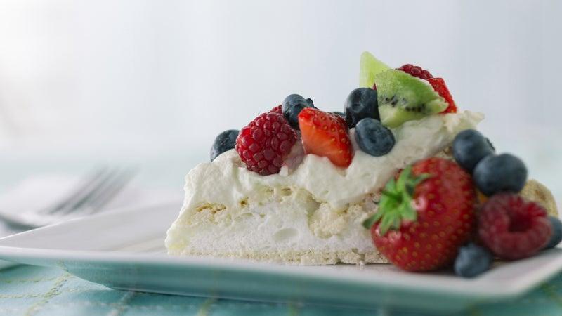 Pavlova Slice With Summer Berries Horizontal