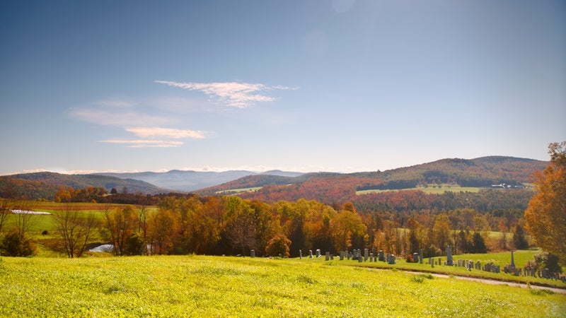 Autumn Landscpe in Vermont.