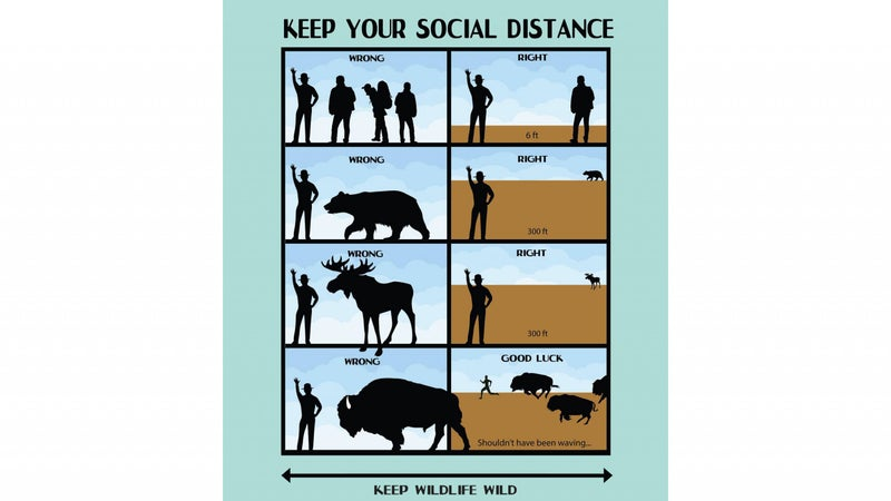 The National Park Service has added social distancing to its official park distance guidelines.