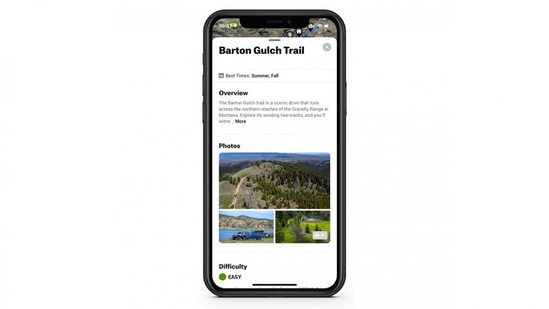 Information on guided trails includes a basic description and photos.
