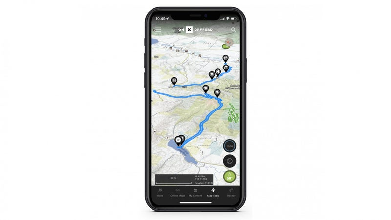 Open the app and you'll find trails displayed in green, red, and blue. The blue ones are the guided trails. There's not a ton of them yet, but OnX is hoping to change that with its new Trail Guide program, which solicits input from experienced off-roaders to populate the app with guided routes.