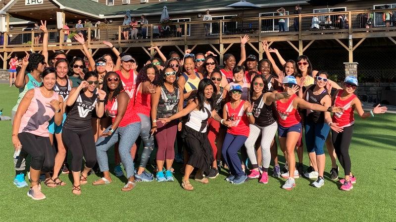 A group of Volée women of color at Big Birdcamp
