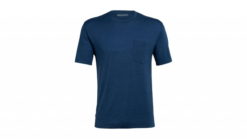 It's a T-shirt. But made from 130-weight merino wool, it's a T-shirt that will keep you dry when it's wet, warm when it's cold, or cool when it's hot. Layered under the jacket, the two together provide a surprising degree of warmth and weather protection.