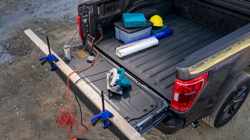 Finally, a tailgate that's actually a good work table.