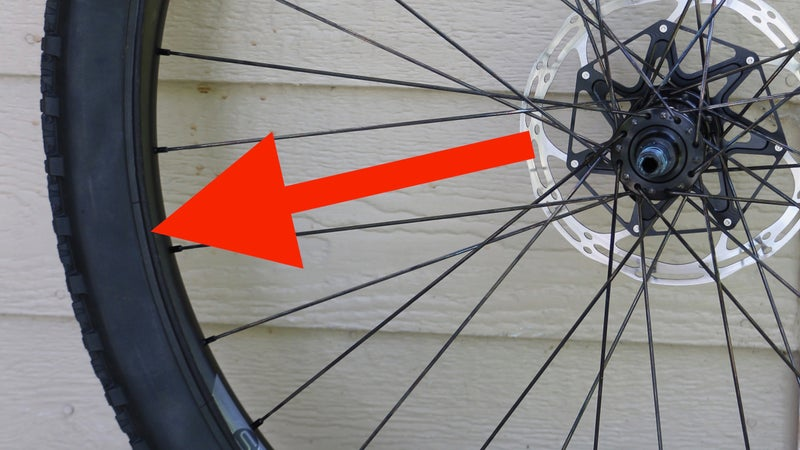 The portion of unmounted tire, where the red arrow points, is where you add sealant if you're using a cup system.