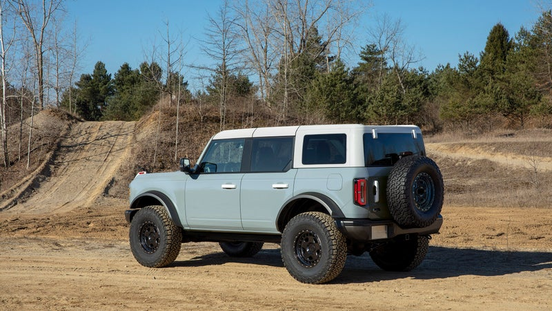 A four-door Bronco with 35-inch-tires.