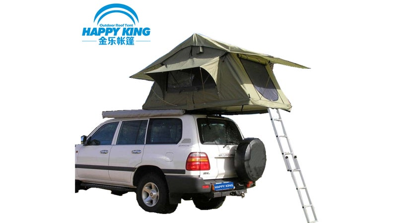 Traditional rooftop tents like this one all appear to be based on the same design, weigh around twice as much as the SuperLite 50, and pack away into a very tall unsightly canvas bundle. Those problems combine thoroughly compromise your vehicle's performance.