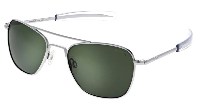 The cost of most sunglasses comes from middlemen and markups. The cost of the Randolphs comes from their content.