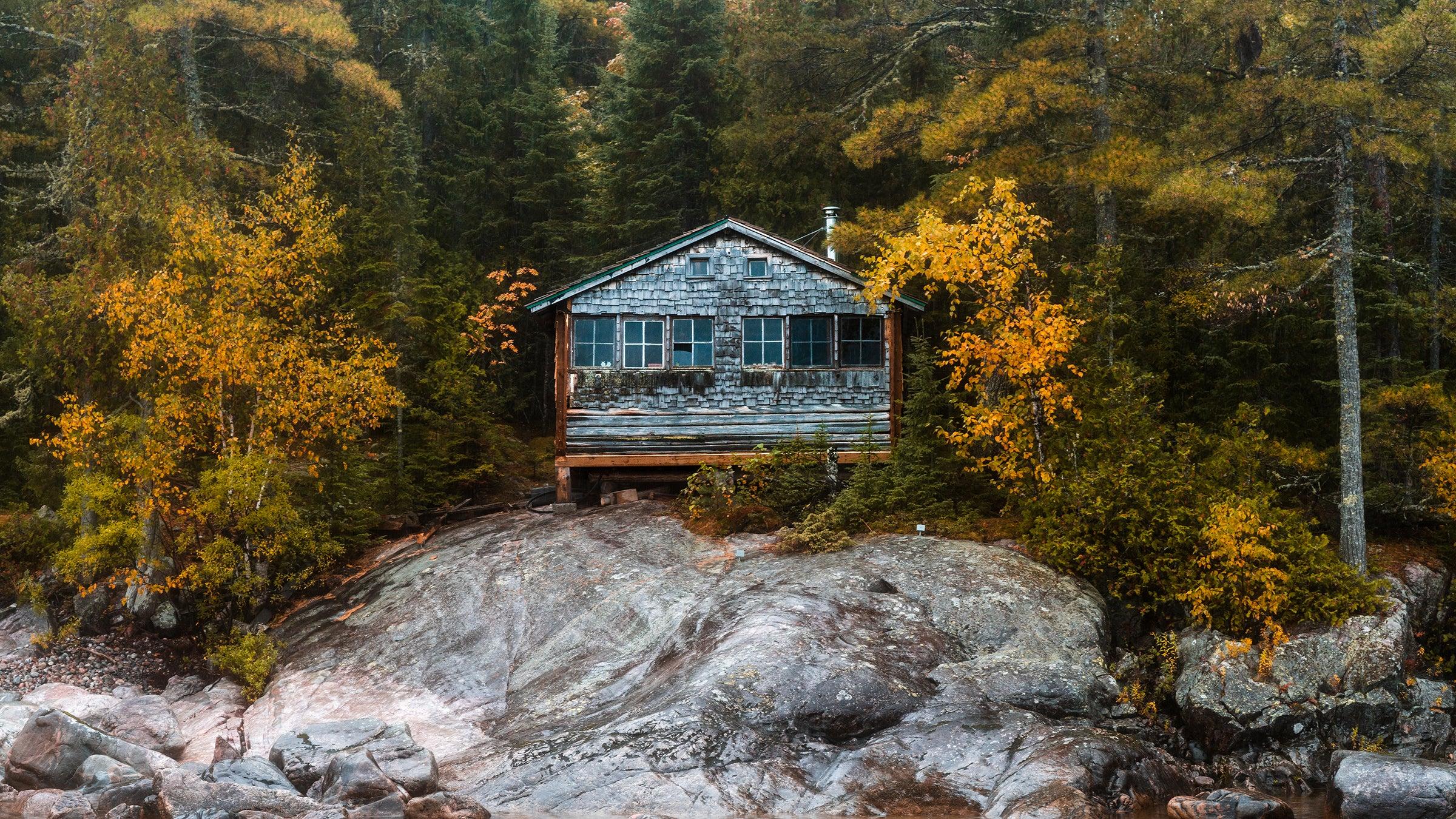 Autumn Forest Cabin