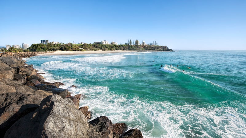 Duranbah beach and Point Danger, New South Wales, Australia