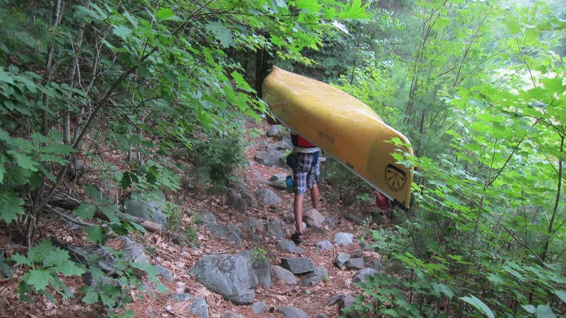 If you pack light enough that you don't have to carry a pack while you're portaging the canoe, you can cover a lot of ground quickly.