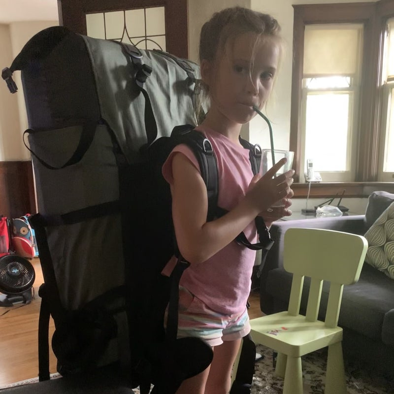 Four olive tubs fit in a 100-liter portage pack so perfectly that even a six-year-old can carry them (if they're empty).