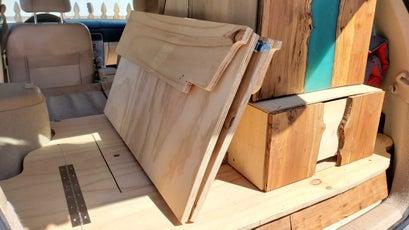 The removable platform folded for storage.