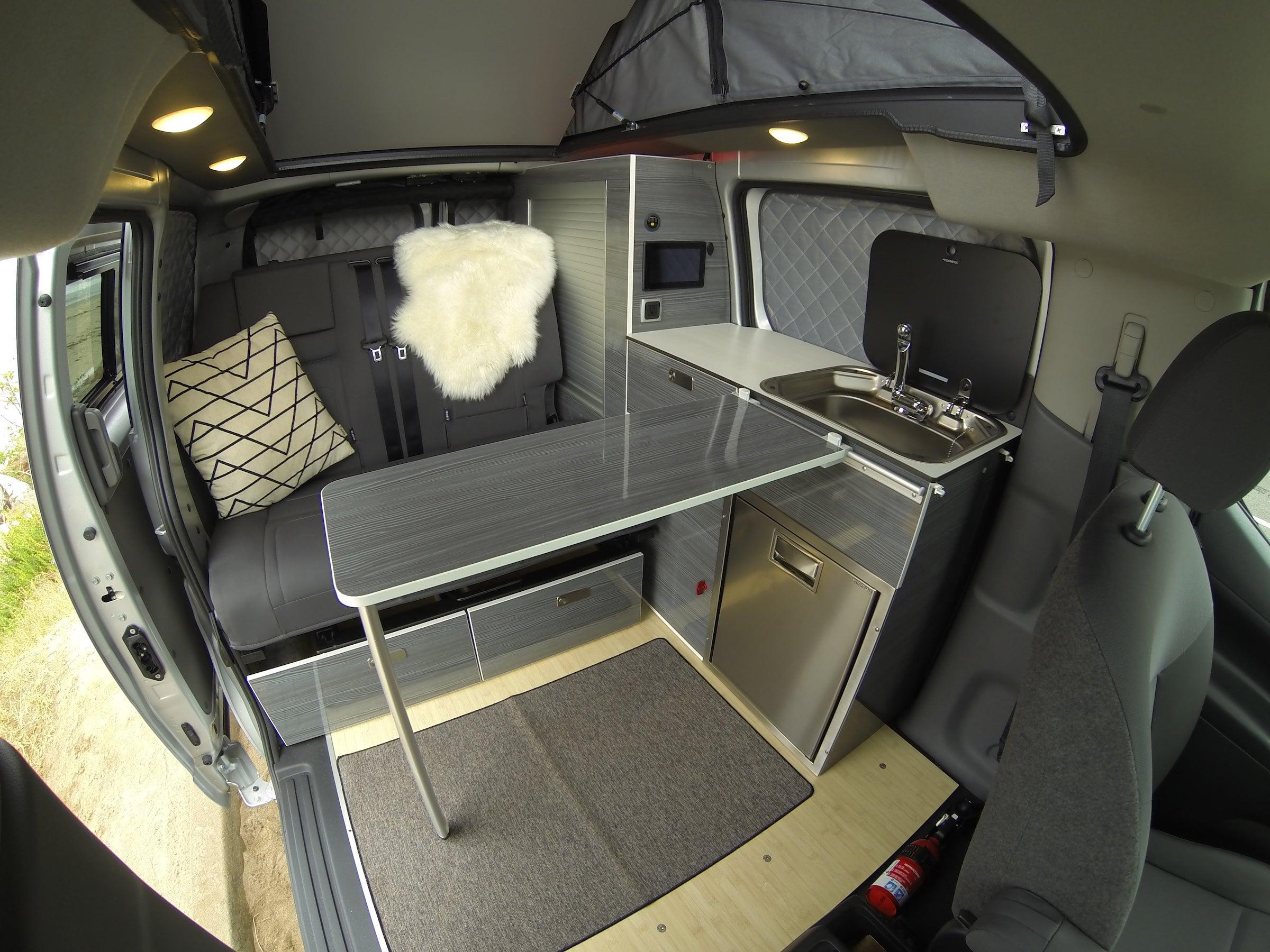 The van's interior