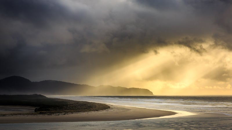 Storms Over Cape Lookout, Oregon at Sunset