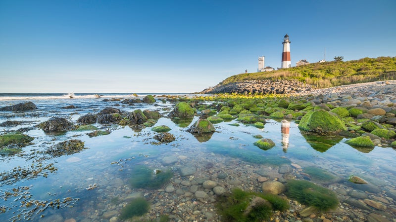 Lighthouse at Montauk point, Long Islands