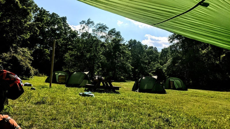 Scout Hollow has three campsites that can accommodate up to 30 people each.