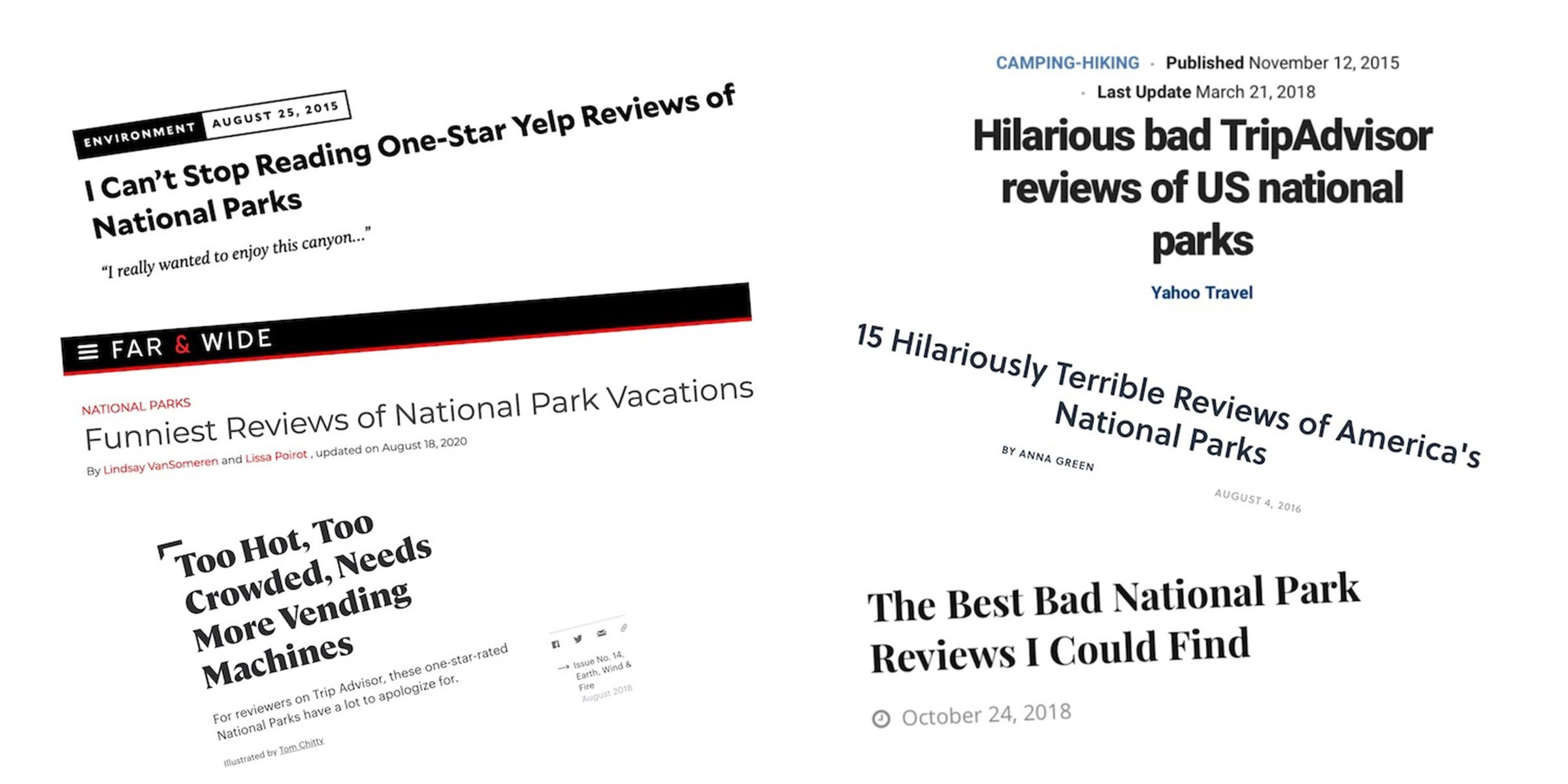 Bad Yelp review screenshots