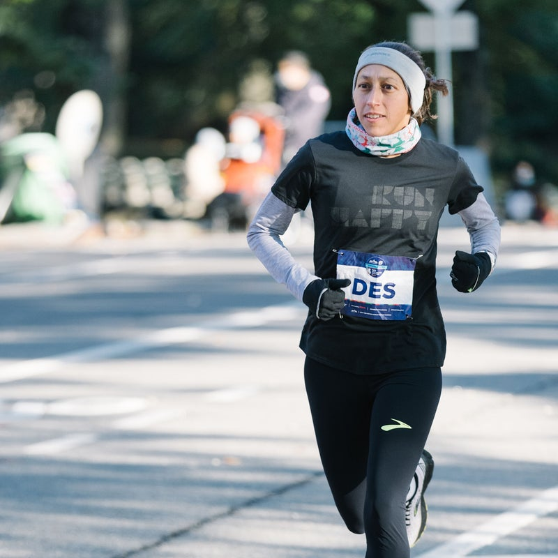Des Linden capped off her high-mileage month with 31 miles in Central Park on Saturday.