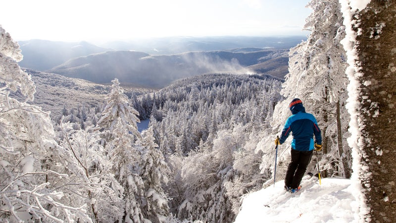 Backcountry skiing near Vermont's Bolton Valley