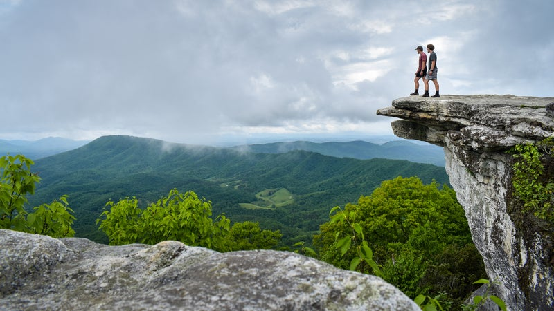 The twins at McAfee Knob, on the AT