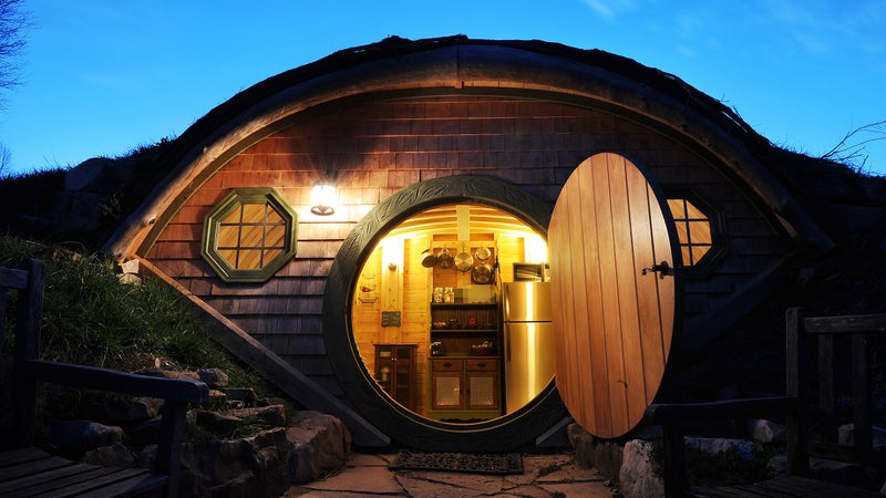 A hobbit hut at Forest Gully Farms