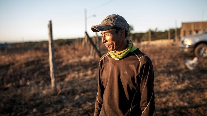 Silvino Cubesare, a Tarahumara farmer and quasi-celebrity on the international ultrarunning circuit