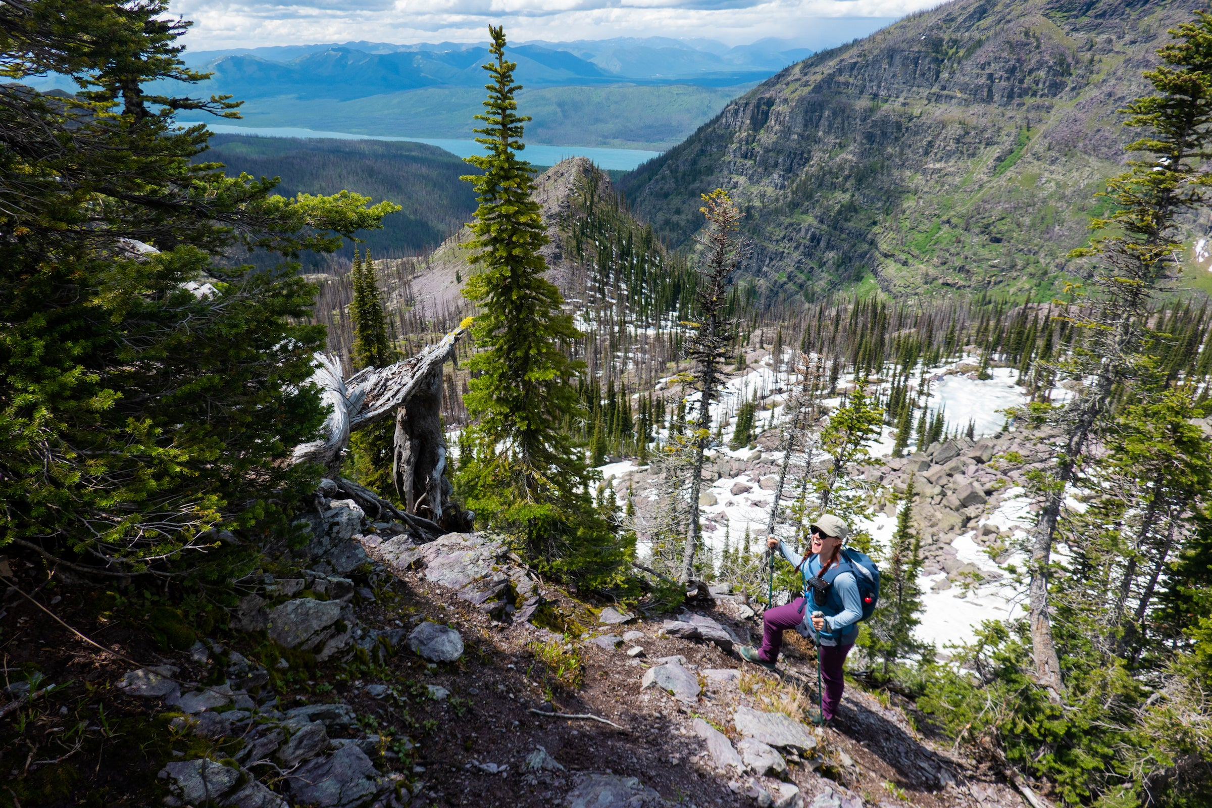 The author hiking Lincoln Pass